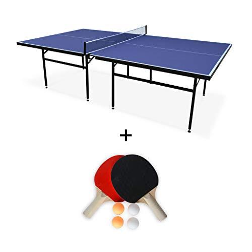 Alice's Garden - Table de ping Pong Indoor Bleue Nagano- Table avec 2 Raquettes et 4 balles, pour Utilisation intérieure, Sport Tennis de Table
