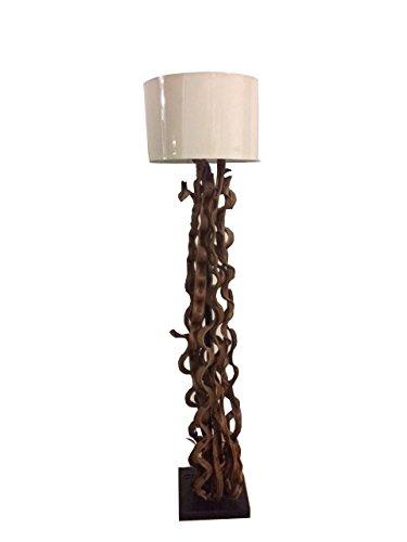 Vily's House Lampara de pie Artesanal y Original elaborada a Mano (Pieza única) elaborada Sobre Troncos de árbol desecados y barnizados