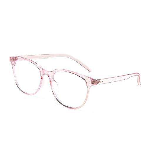 Mkulxina Anti-Strahlung-Brille Anti-Blau-Brille Nicht verschreibungspflichtige Brille für Damen Herren (Color : Pink)