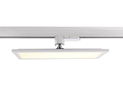LED 3-Phasen Strahler PANEL TRACK LIGHT, 20W, 110-240V, 4000K, IP20, weiß mattiert EEK: A