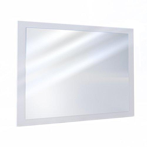 Oskar VICCO Badezimmerspiegel Badmöbel 45 x 60 cm - Spiegel Hängespiegel Badspiegel (Weiß) (Rechteckiger Spiegel Ohne Rahmen)