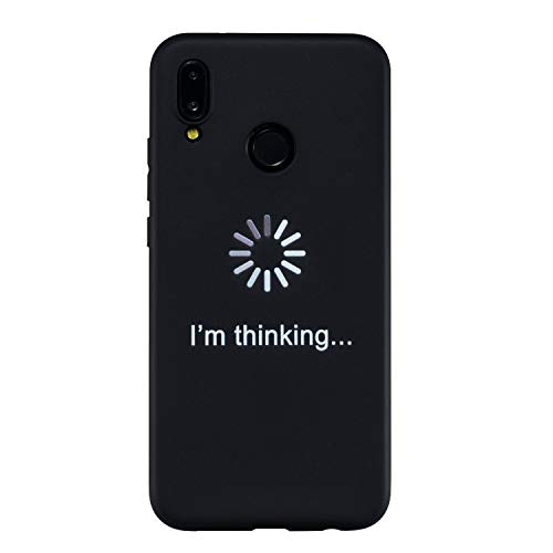 Klassikaline® Huawei P20 Lite Téléphone Coque, Etui Housse Case Cover pour Huawei P20 Lite - I'm Thinking