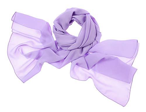 Bridesmay donna chiffon scialli da sposa prom wraps sera sciarpe lavender s 180cm*72cm