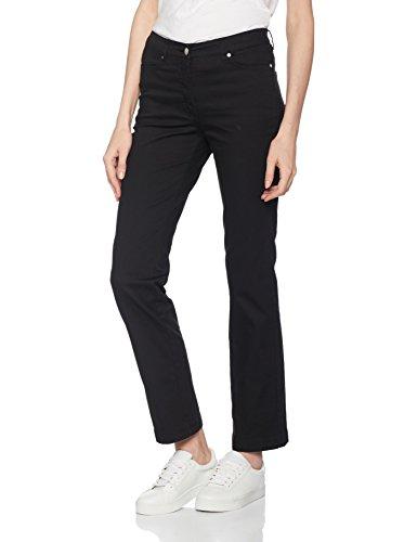 Damart Pantalon Perfect Fit Coupe Droite, Jeans Taglio Dritto Donna nero (noir)