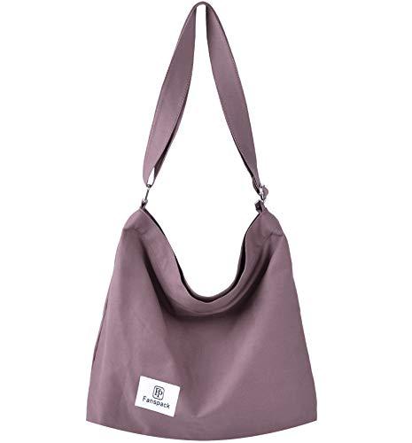 Bolsos Mujer,Fanspack Bolso Bandolera Mujer de Lona Hobo Bag Bolsos de Crossbody Bolso Shopper...