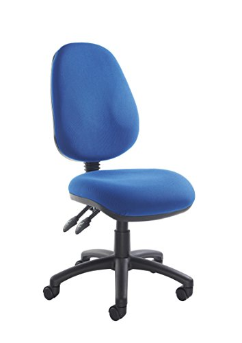 Ideal 365 Office Fabric Operator Chairs 2 lever PCB (Blue, No Arms)