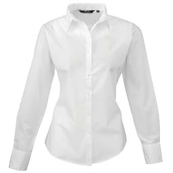 d8c9a83e145c Premier - Chemisier à manches longues - Femme  Amazon.fr  Vêtements ...