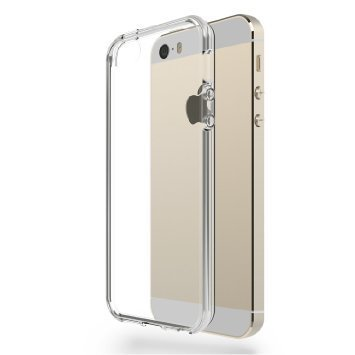 Kapa 0.3MM Ultra Thin Soft Silicone TPU Silicone Flexible Transparent Back Case Cover for Apple iPhone 5 5S