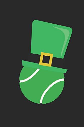 St. Patrick's Day Notebook - St Patricks Day Tennis Ball Leprechaun Hat - St. Patrick's Day Journal: Medium College-Ruled Journey Diary, 110 page, Lined, 6x9 (15.2 x 22.9 cm) (Medium-tennis-bälle)