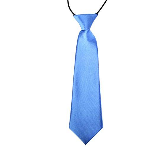 CellDeal-Cravate Élastique des enfants pour mariage Bleu