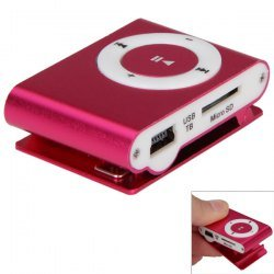 Sonilex MP3 Player With Ear Phones (Red)