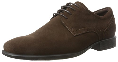 Ecco Cairo, Derbys Homme Marron (Coffee)