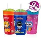 Nuby snack N 'SIP 270ml Cup BPA free Age 12m + (rosa/gufo)