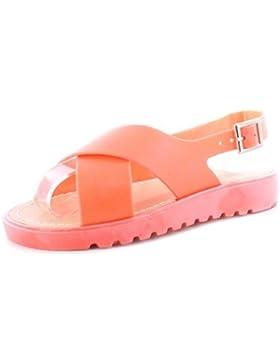 NUEVO niña / Infantil Limón elástica SUPERIOR Y Flexible Suela Moderno Zapatos de GEL - Coral - GB Tallas 1-13
