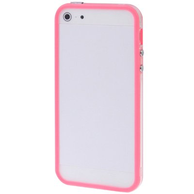 iPhone 5-5s-SE Bumper Schutz-Hülle im stylishen 2-Color Look für das iPhone SE 5 und 5s (4 Zoll) -Nur original von THESMARTGUARD- Farbe: Orange Pink