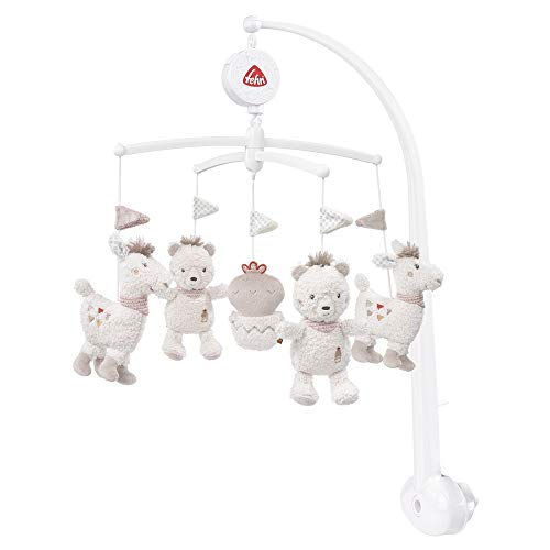 FEHN 058024 Musik-Mobile Peru / Spieluhr-Mobile mit niedlichen Figuren zum Beobachten, Lauschen & Staunen - Zum Befestigen am Bett für Babys von 0-5 Monaten