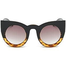 OverDose Unisex Sommer Frauen Männer Vintage Katzenaugen Reflektierenden Spiegel Weinlese Gläser Unisexart und weise Flieger Spiegel Objektiv Sonnenbrille (C)
