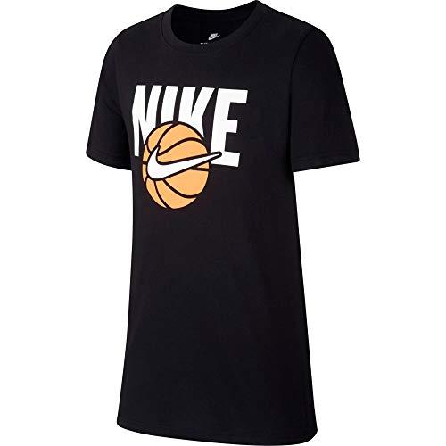 Nike Jungen Sportswear T-Shirt, Black, M