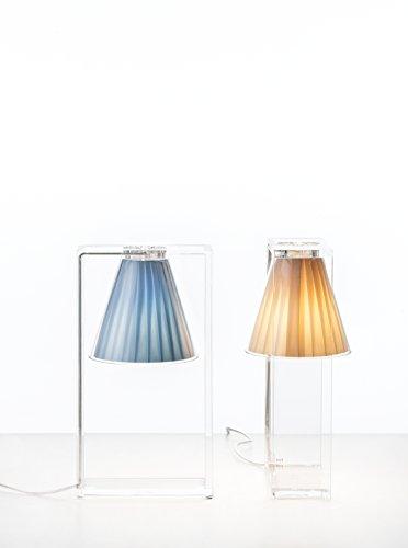 """Kartell Lámpara """"Light Air"""", lámpara de mesa esencial y moderna que crea juegos de luz y de reflejos. Material: Plastico."""