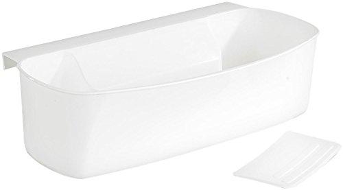 Rosenstein & Söhne Abfallschale: Auffangschale für Küchenabfälle, mit Spachtel (Abfallsammler), Plastik, weiß, 1