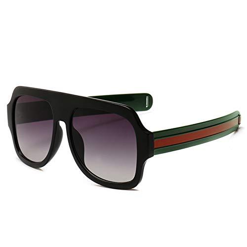 GJYANJING Sonnenbrille Große Übergroße Sonnenbrille Mann Frau Gelb Mens Sonnenbrille Für Männer Frauen Retro Kunststoff Sonnenbrille Rosa Trendy Sunglass