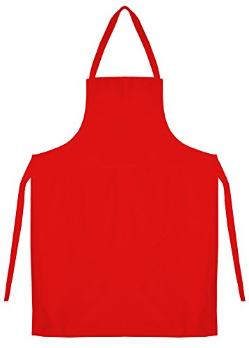 kids-school-cotton-woodwork-craft-cookery-art-plain-apron-bib-red