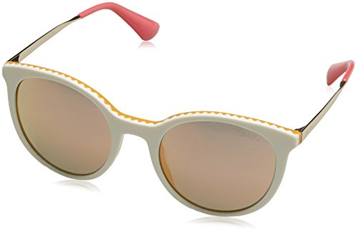 Prada Damen 0PR17SS VH72D2 53 Sonnenbrille, Gelb (Ivory/Yellow/Grey Rose Gold),