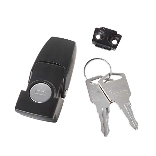CARRYKT Cabinet Black Coated Metal Hasp Latch DK604 Security Toggle Lock with Two Keys - Cabinet Latch Lock