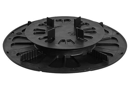 Gartenwelt Riegelsberger Support pour plaques de Cuisson en céramique Hauteur réglable pour carrelage Béton Fabriqué en Allemagne Support de terrasse Plateau tournant Support 19-27mm