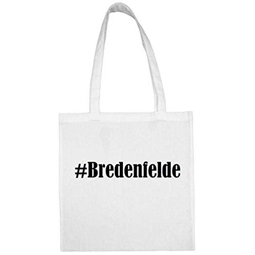 Tasche#Bredenfelde Größe 38x42 Farbe Weiss Druck Schwarz