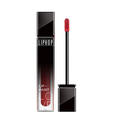 AMUSTER Rouge à lèvres 10 couleurs féminines Flash flash à clapet à lèvres rouge à lèvres matte perle à lèvres brillant (A)
