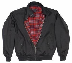 Knightsbridge Harrington English Style Jacke schwarz mit kariertem Innenfutter XL,Schwarz -