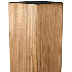 meingartenversand.de Pfosten/Zaunpfeiler aus Kiefer/Fichte Holz, druckimprägniert für Sichtschutzzäune in den Maßen 9 x 9 x 100 cm Berlin