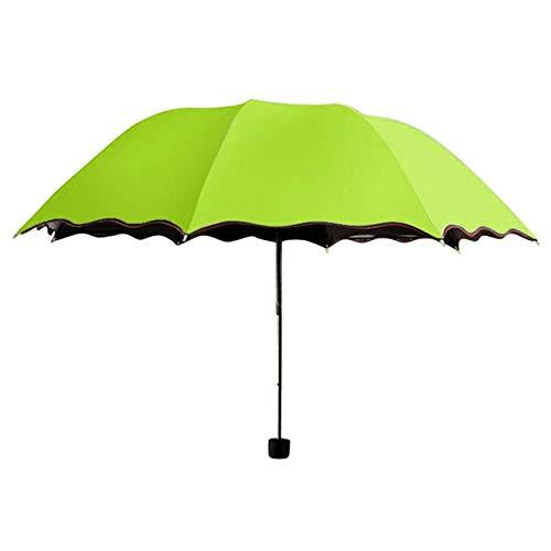 Lhbin Regenschutz Regenschirm Regenzeit Klappschirm Regenschirm Sonnenschirm Klappregen Winddicht Regenschirm Klapp Anti-UV Sonne/Regen-P54-A