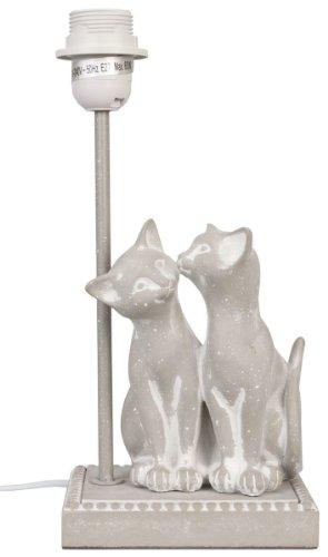 6LMP160 Lampe de table / Pied de lampe - Chats - Gris ca. Ø 27 x 40 cm E27 max 60W