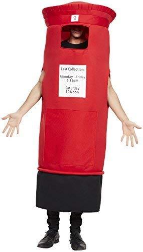Kostüm Lustige Britische - Damen Herren Rot Briefkasten Kult Britain Britisch London Spiele Junggesellenabschied Abend Party Lustig Kostüm Kleid Outfit