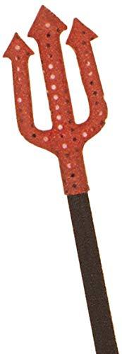 WIDMANN Teufel Gabel Stoff/Pailletten 45 cm Zubehör für Halloween Luzifer Satan - Gabel Fancy Dress Kostüm