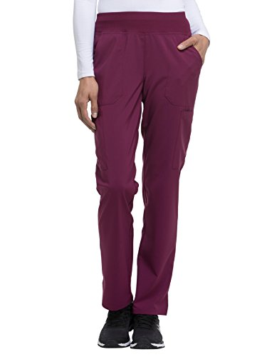 Dickies EDS Essentials by Women's Knit Waistband Scrub Pant XXX-Large Petite Wine