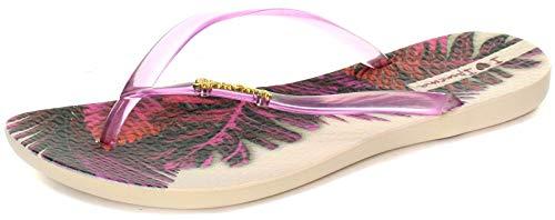 Ipanema Brasil Wave Tropical Damen Flip Flops, Lila, Größe 38