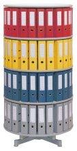 reef R2100B5 Ordnersäule 100 cm durchmesser, 5 Etagen gesamtdrehbar, grau