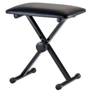 RayGar KEYBOARD PIANO BENCH STOOL SEAT ADJUSTABLE FOLDING X FRAME STRONG ORGAN *NEW*
