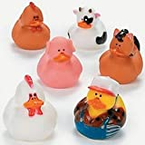 Pack of 6 - Farm Rubber Duckies
