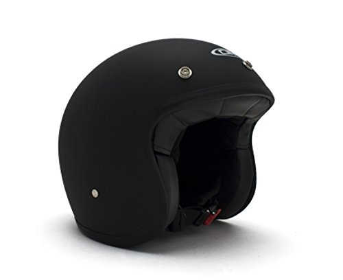 DMD Casco Moto, Unisex, Nero Opaco, M