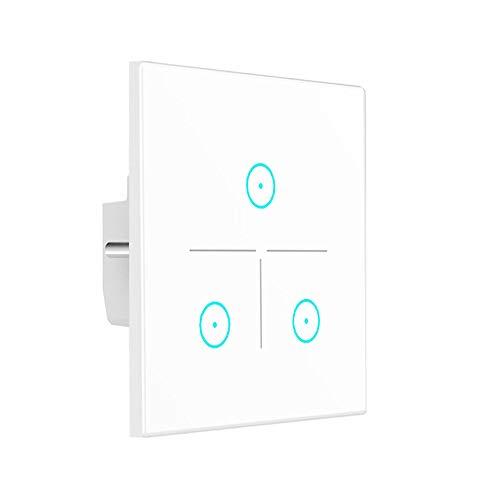 Wifi Smart Lichtschalter mit Touch-Screen,Arbeit mit Alexa & Google Home(3 Weg)