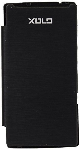 iCandy™ Synthetic Leather Flip Cover For Xolo A500 Club - BLACK  available at amazon for Rs.170