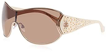 Roberto Cavalli RC803S28F_RoseGoldIvory/BrownLens - Cycling Glasses Women's, Colour: gold-coloured
