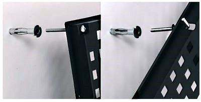 Werkzeugwand mit 19 teiligem Werkzeugbefestigungsset, Länge 80 cm x Breite 48 cm - beliebig erweiterbar - 4