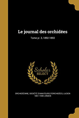 FRE-JOURNAL DES ORCHIDEES TOME -