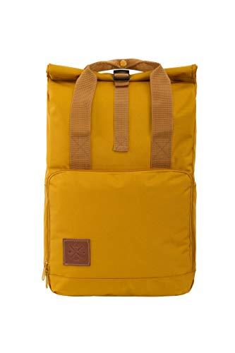 M13 RollTop Daypack - wasserdichter Roll Top Rucksack (15L), Kurierrucksack mit Innenfach, wasserabweisendes Material, verstellbare Gurte (Manufaktur13) (Mustard) -