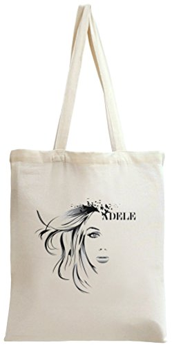 Adele Art Face Stencil Birds Tote Bag (Laurie Bird)